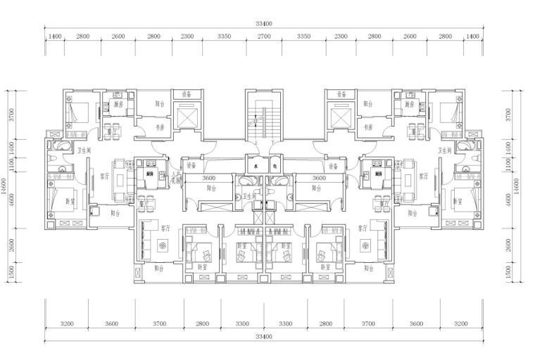 宝龙住宅标准户型设计 (4)