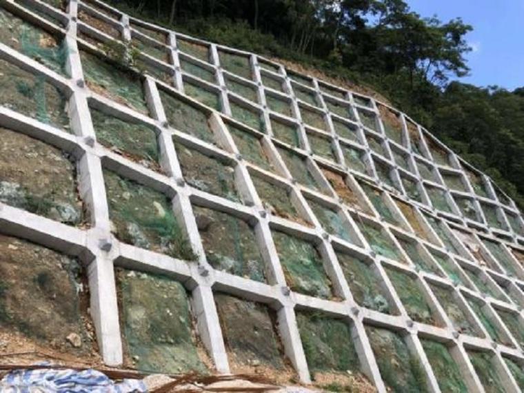 方格截水骨架边坡防护施工方案.