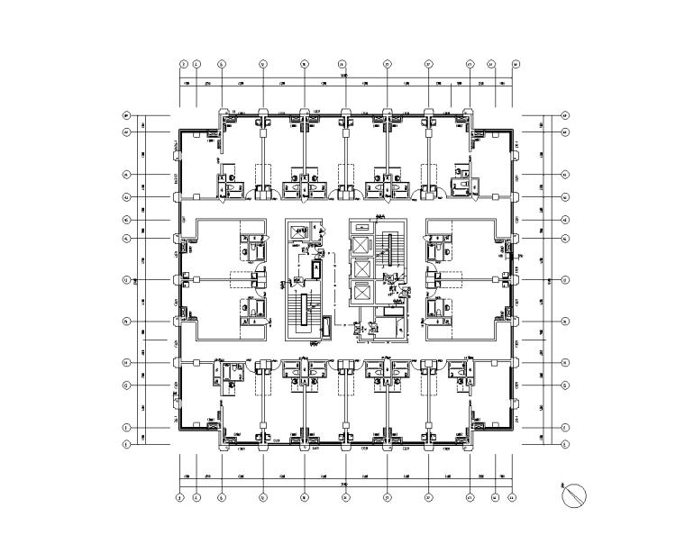 二十一层商业楼电气改造施工图纸(2019)