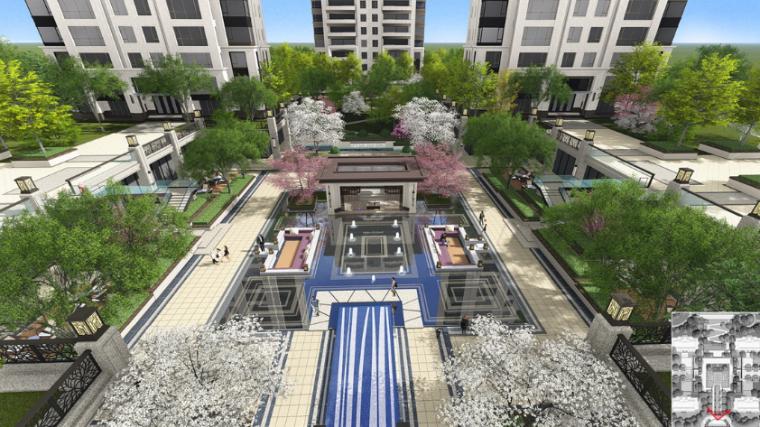 广场效果图