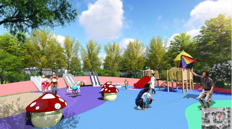 儿童活动乐园效果图