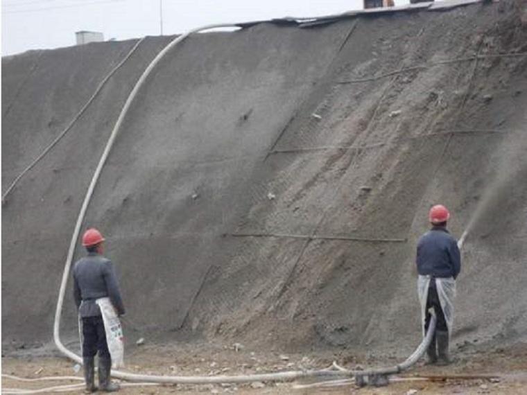 防洪护岸整治边坡锚喷支护施工方案