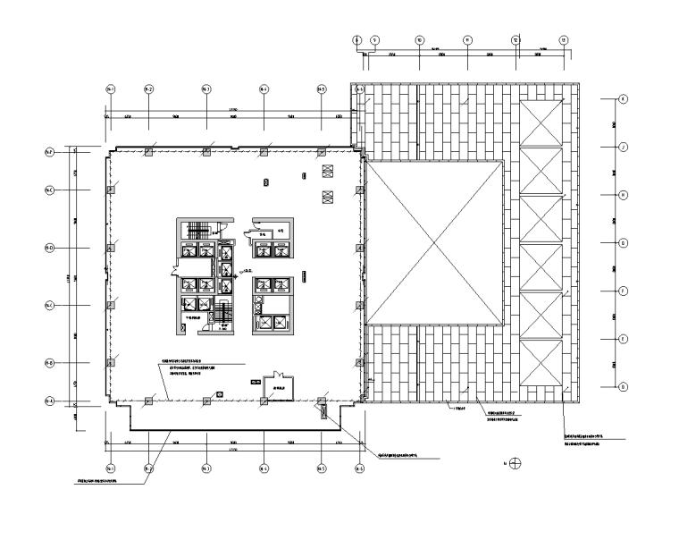 浙江43层大型商业广场电气消防图纸