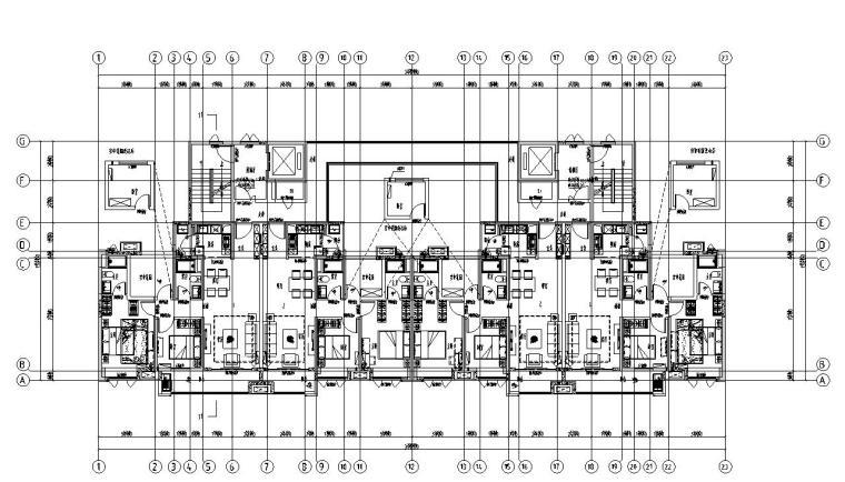 新古典风格保利户型1梯5户户型图设计