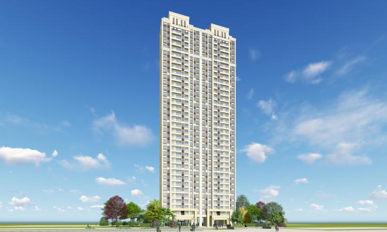 新古典风格知名地产1梯5户住宅建筑模型设计-新古典风格知名地产户型1梯5户住宅建筑模型设计 (1)