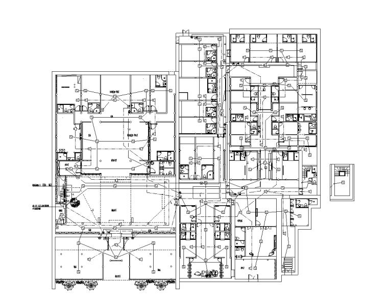 民宿酒店水电消防施工图纸(含效果图)