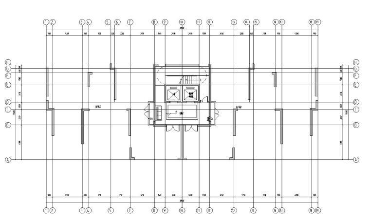 新古典风格保利户型1梯2户210㎡户型图设计