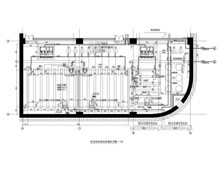 [节点大样图]生活水泵房给排水