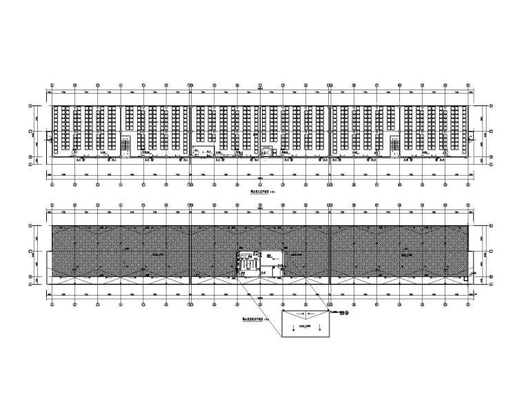 五层及屋面给水排水平面图