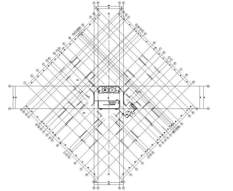 现代风格保利户型1梯4建筑户型图设计
