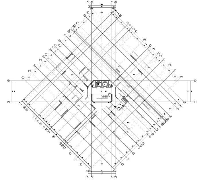 新古典风格保利户型1梯4户住宅户型图设计