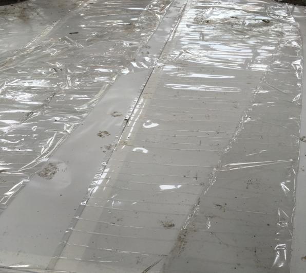 [上海]综合办公楼防水施工方案培训讲义PPT-35成品保护