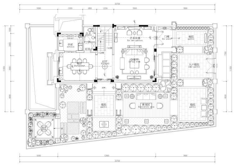 [一键下载]10套精选别墅室内设计方案500M