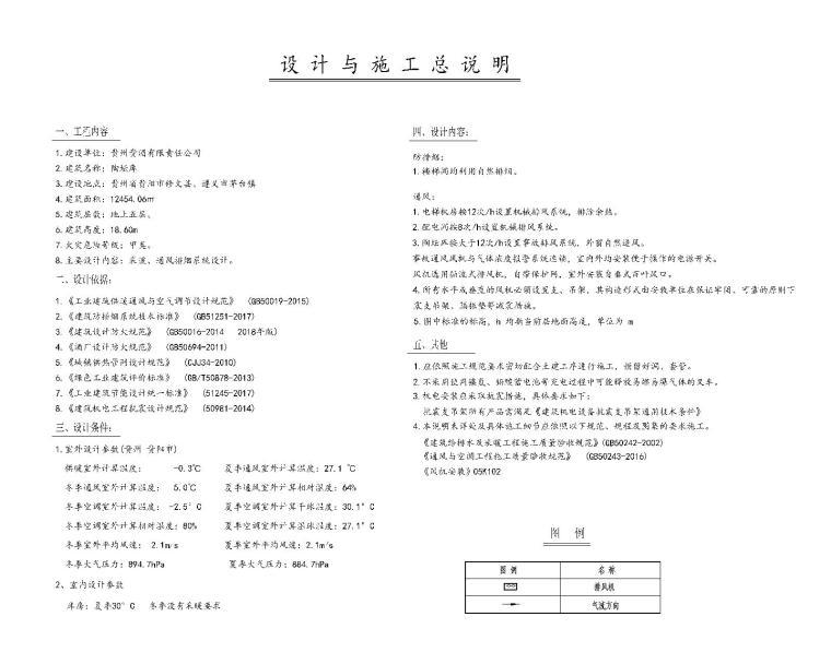 [贵州]酒库暖通空调通风设计施工图纸