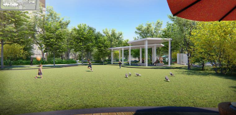 草坪广场效果图