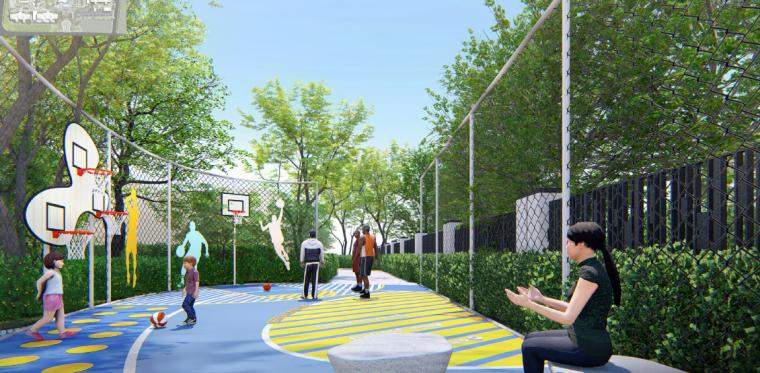 篮球活动空间效果图
