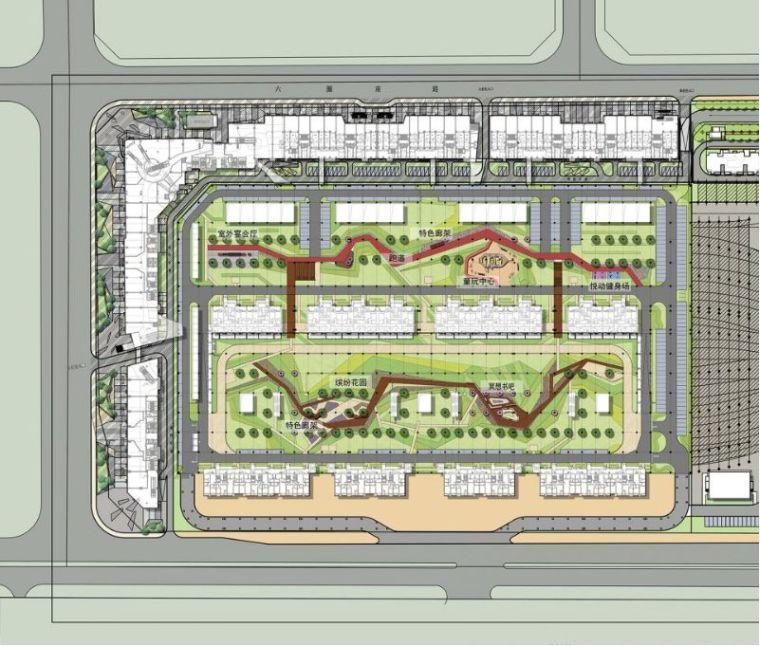 居住区景观设计要点解析&附150套居住区方案_16
