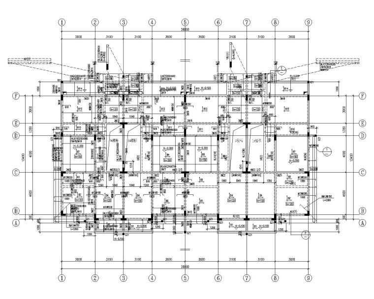 高档楼盘及联排别墅结构施工图(CAD)