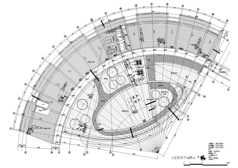 A区顶层平面图