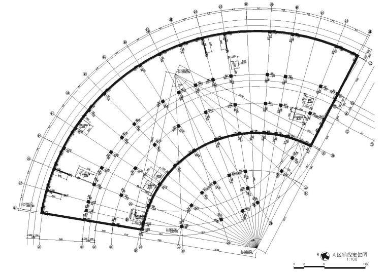 A区轴线定位图
