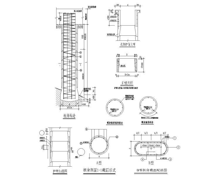 六层住宅楼混凝土结构设计施工图(CAD)-基础大样图