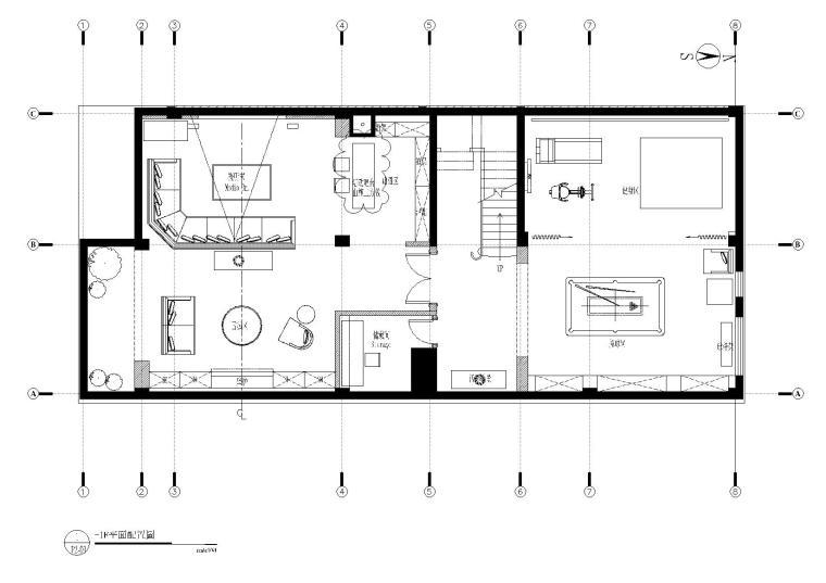 杭州自在城三层连排别墅施工图