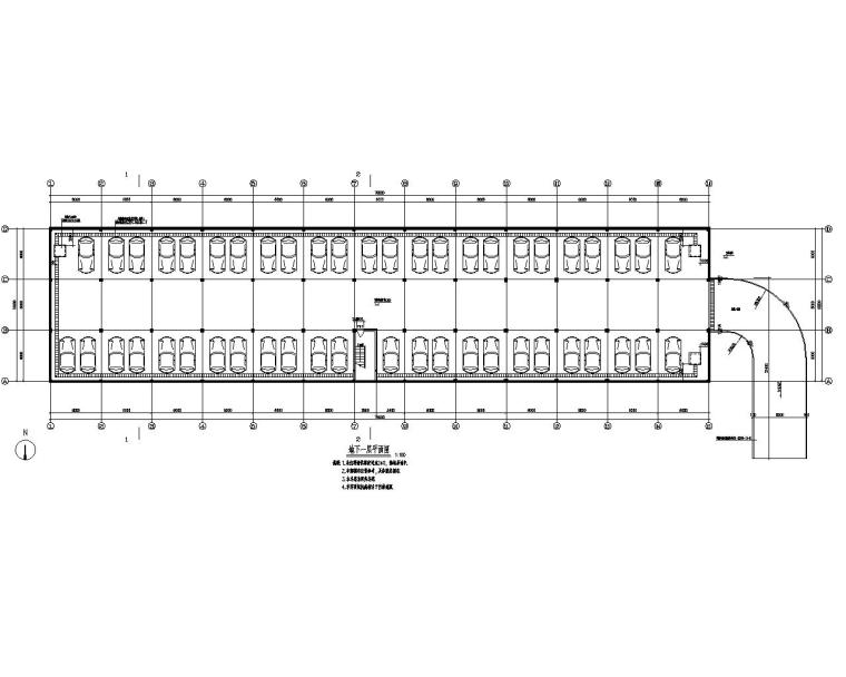 小区地下车库框架结构设计施工图(CAD)