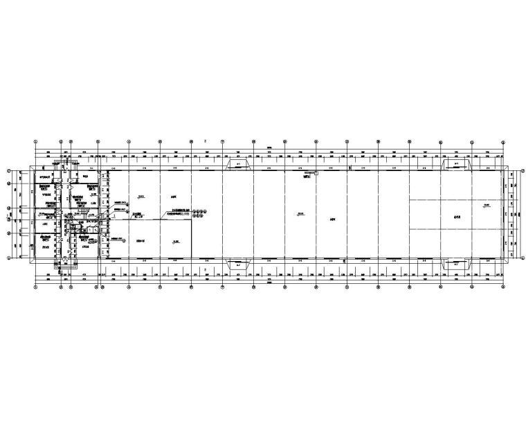 21米单跨钢结构厂房建筑结构施工图(cad)图片