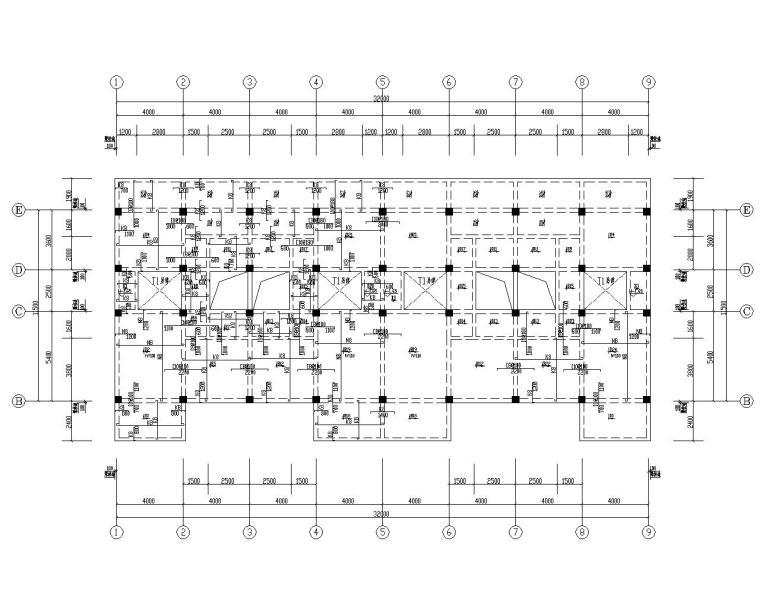 四层住宅混凝土结构施工图(CAD)