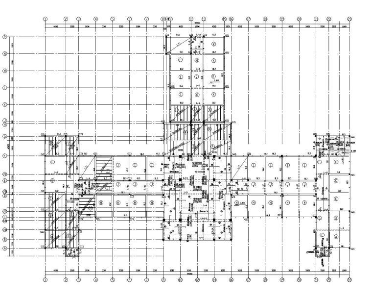 三层医院框架结构门诊楼施工图(CAD)