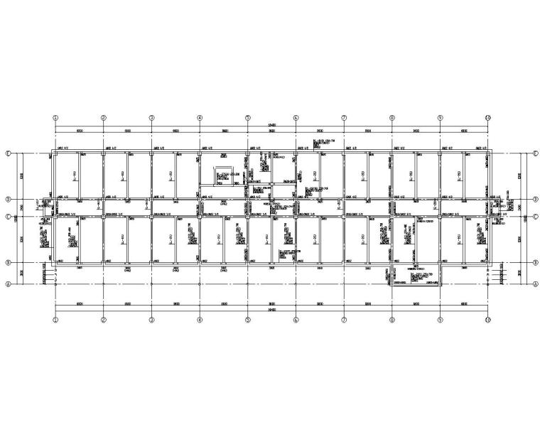 某五层办公楼框架结构设计施工图(CAD)