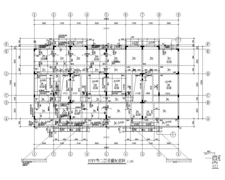 三层高档别墅混凝土结构施工图(CAD)