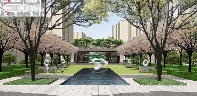 居住区景观设计要点解析&附150套居住区方案_10