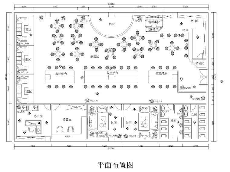 某现代风格酒吧设计CAD施工图