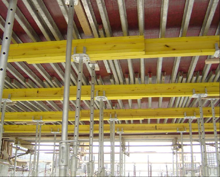 新型模板及脚手架技术培训讲义PPT(347页)-14独立式钢支撑、木梁、几字型钢梁、胶合板模板