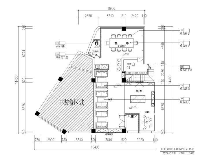 新湖珠宝店设计施工图CAD