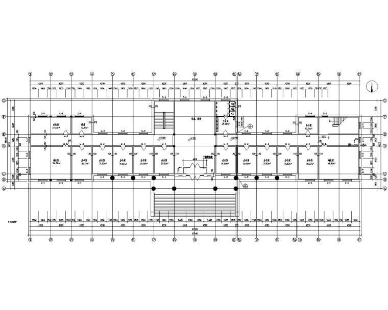 四层公共办公楼砖混结构施工图(CAD)