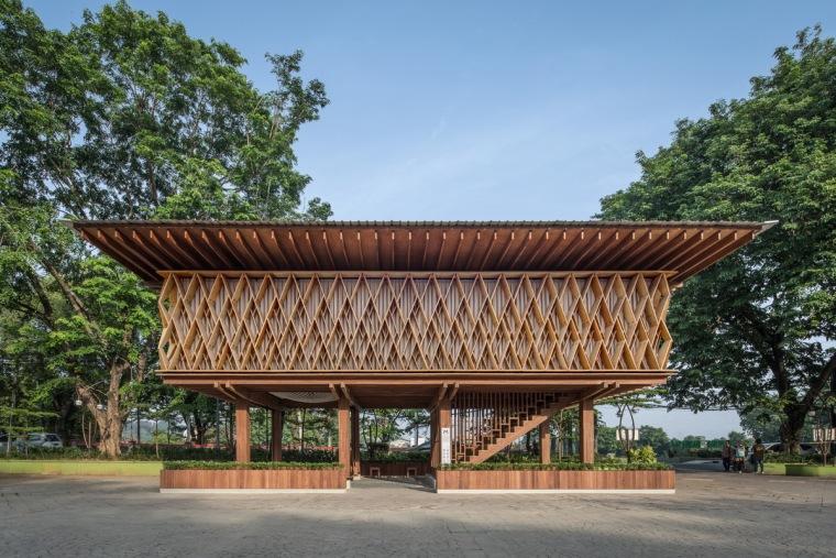 木结构丨微型图书馆 Warak Kayu