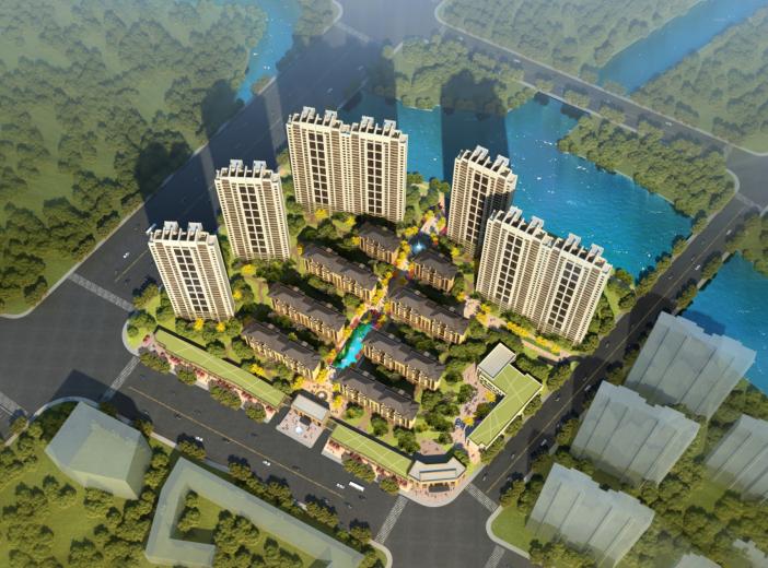 南京蓝光板桥63亩住宅规划方案(三家方案)
