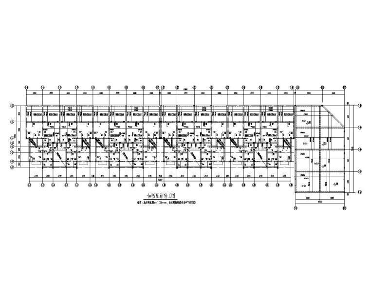 六层住宅楼砖混结构施工图(CAD)