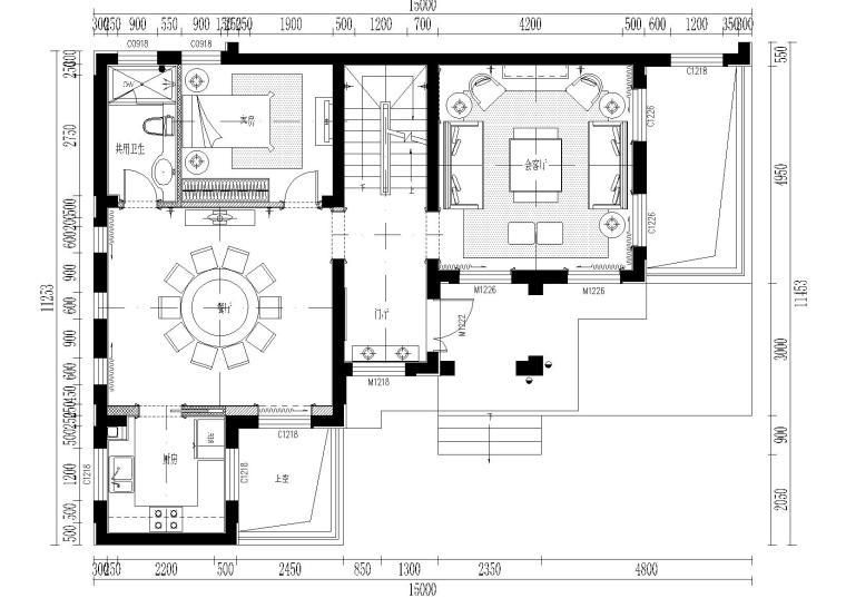 [上海]-昆山国润C型别墅住宅施工图+效果图
