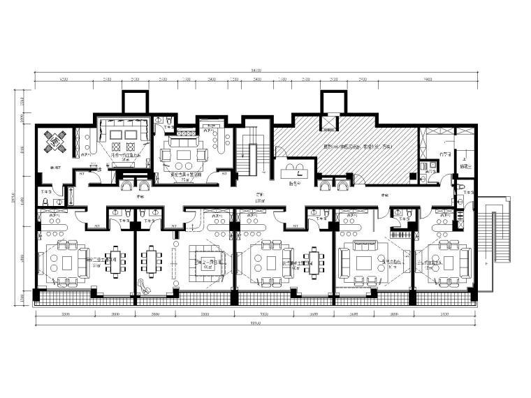 工业风格复古酒吧CAD施工图_效果图
