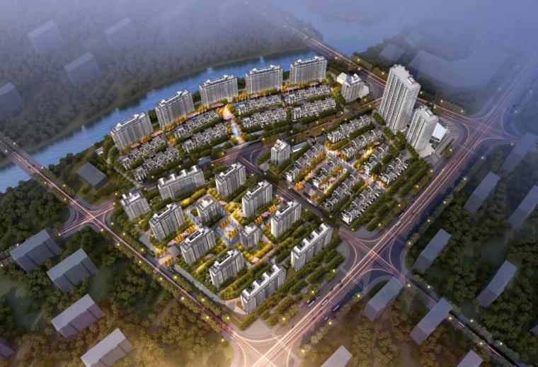 招商-华东区新中式风格常规住宅类建筑方案-01 鸟瞰图