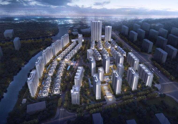 招商-华东区新中式风格常规住宅类建筑方案-效果图