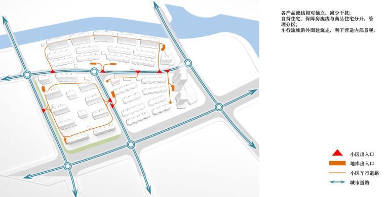 招商-华东区新中式风格常规住宅类建筑方案-车行流线