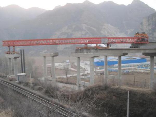 分离式立交桥上跨铁路第18跨架梁准备汇报