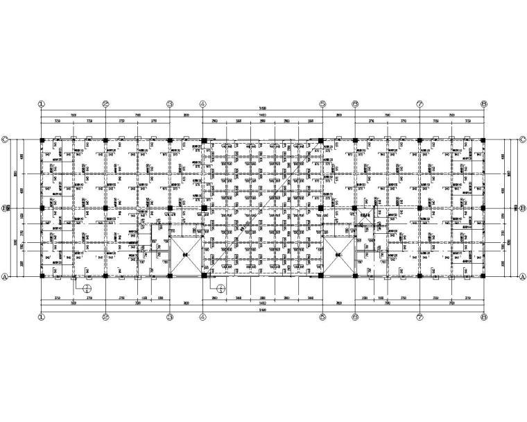 某公司三层框架结构办公楼施工图(CAD)