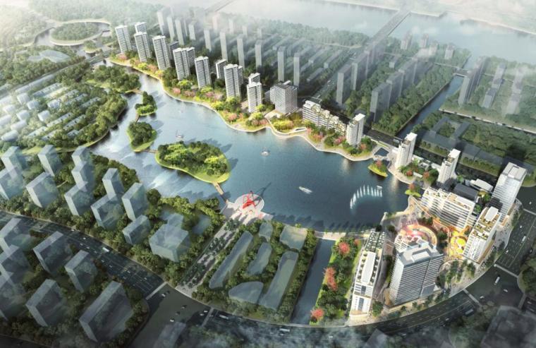 欧式独栋二层滨水资料下载-[浙江]华润滨水公寓+住宅+商业建筑方案