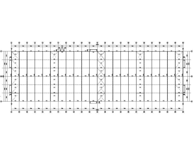 某加工生产车间钢结构厂房施工图(CAD)