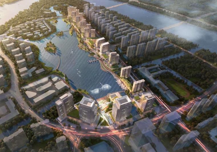 欧式独栋二层滨水资料下载-[浙江]现代风格滨水公寓+住宅+商业建筑方案